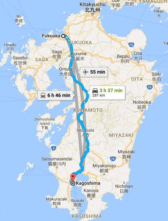 fukuoka to Kagoshima