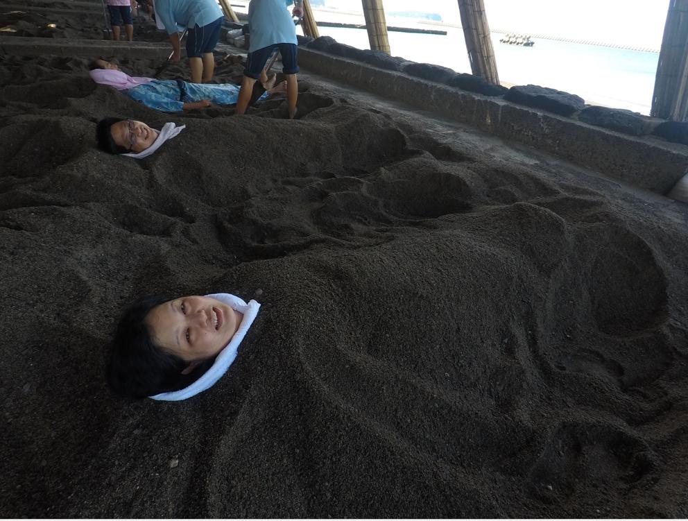 ibusuki sand bath our pic