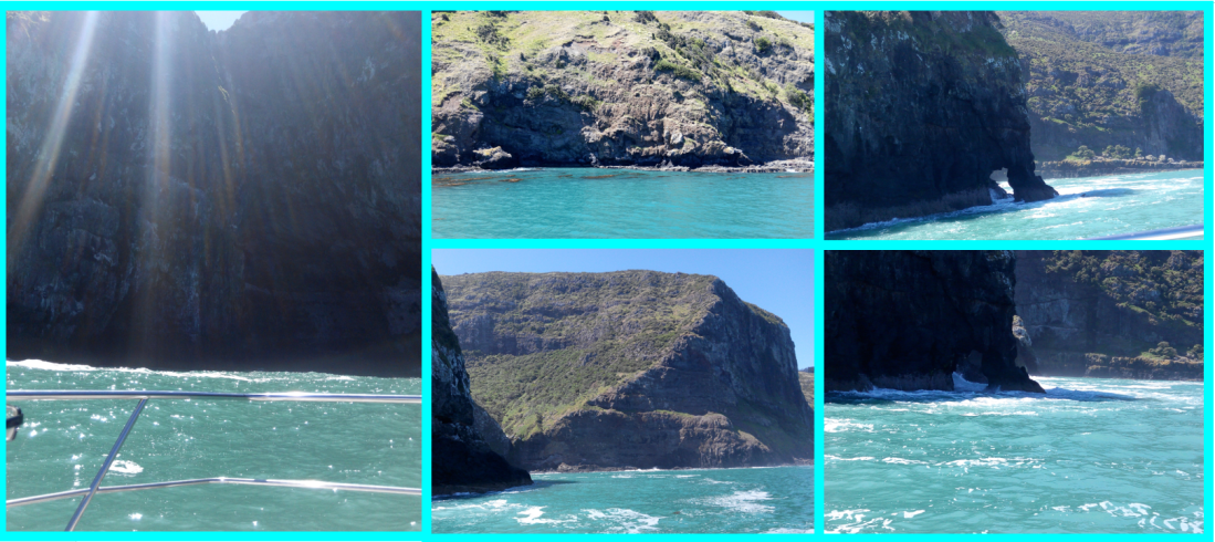 akaroa rugged coast